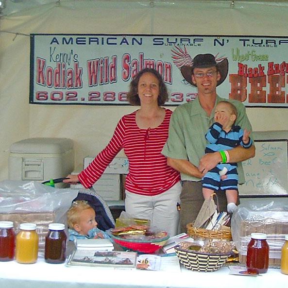 The Fishhuggers at the Farmers Market